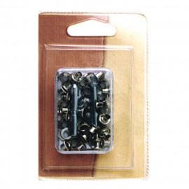 36 petits oeillets 5mm et outil couleur bronze