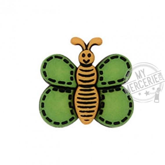 Bouton Papillon couleur Vert