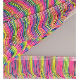 Bobine 15m Frange arc-en-ciel Multicolore