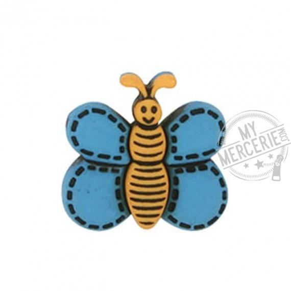 Bouton Papillon couleur Turquoise