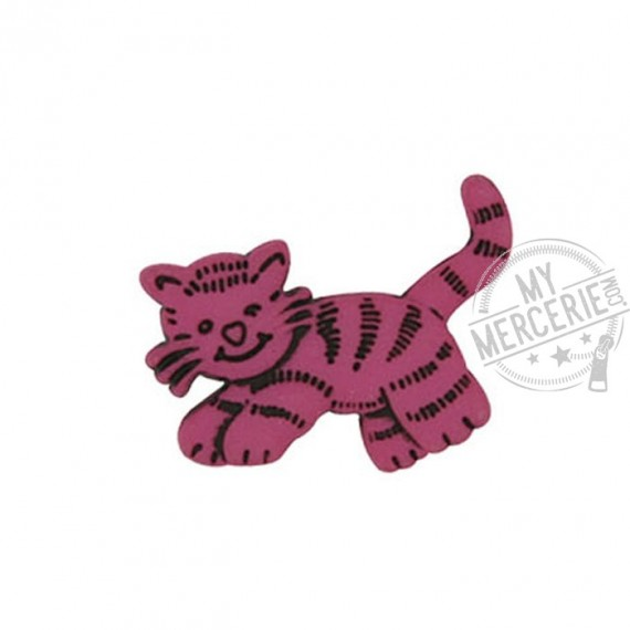 Bouton Petit Chat couleur Fuchsia
