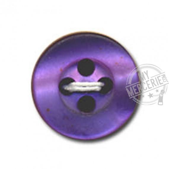 Bouton rond à 4 trous couleur Prune