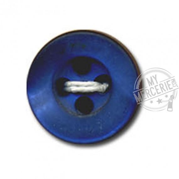 Bouton rond à 4 trous couleur Bleu nuit