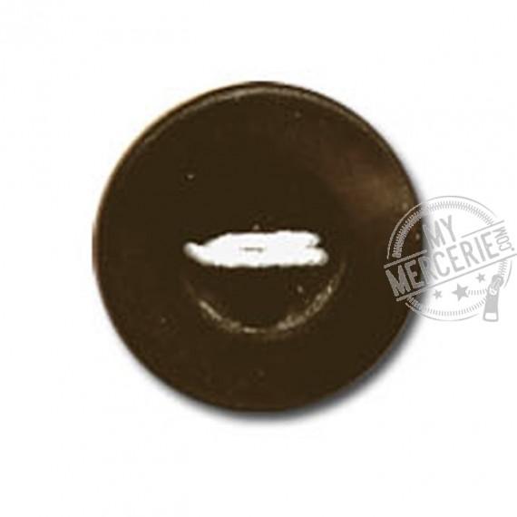 Bouton rond à 4 trous couleur Marron