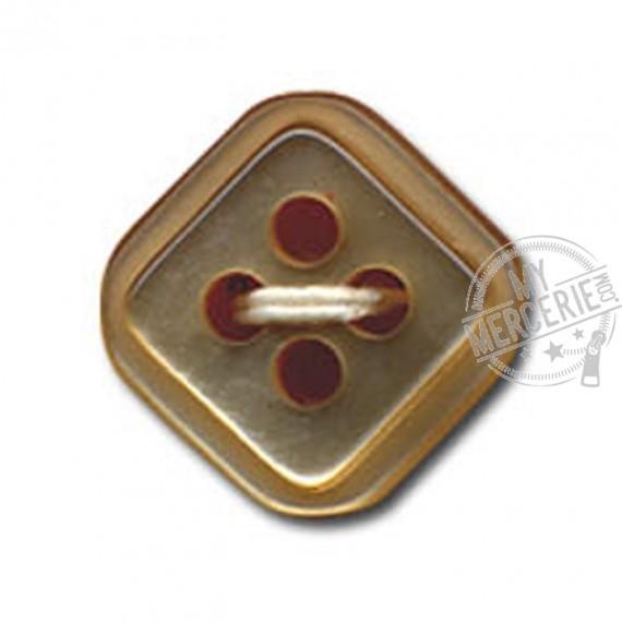 Bouton carré à 4 trous couleur Beige