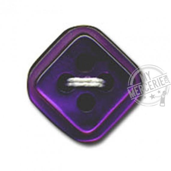 Bouton carré à 4 trous couleur Prune