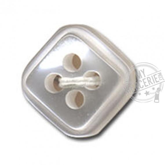 Bouton carré à 4 trous couleur Blanc
