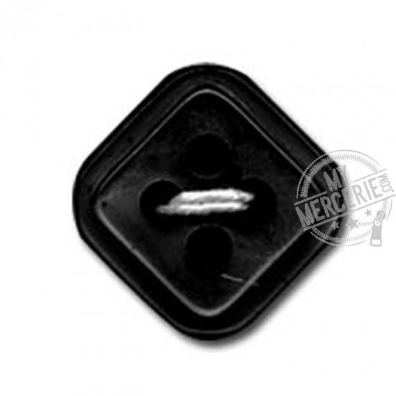 Bouton carré à 4 trous couleur Noir