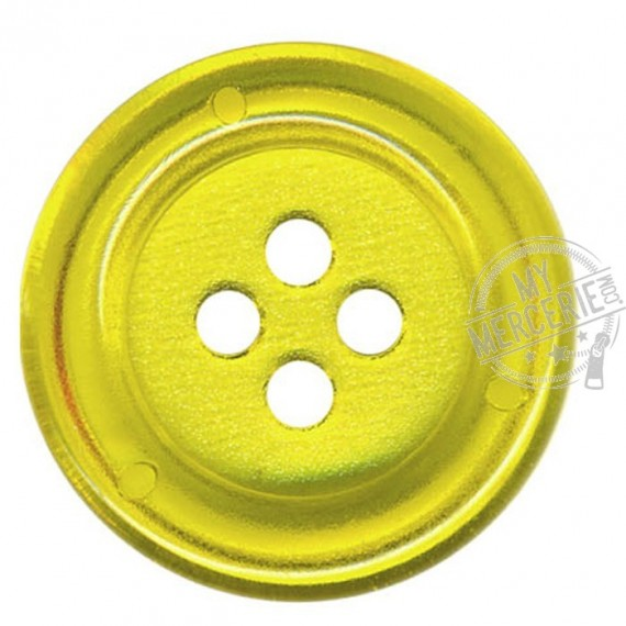 Bouton Clown transparent couleur jaune