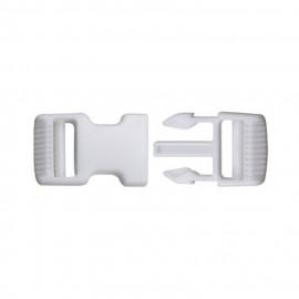 Boucle anti-glisse blanche 7cm