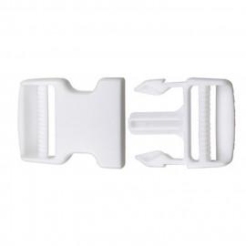 Boucle anti-glisse blanche 8cm