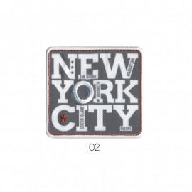 Ecusson thermocollant New York City gris