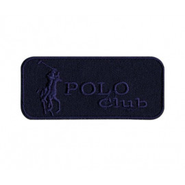 Ecusson Polo Club bleu thermocollant