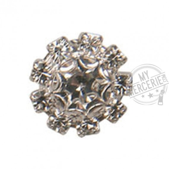 Bouton Strass Cristal rond