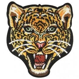Ecusson thermocollant jungle léopard 6,5 cm x 6,5 cm