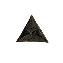 Ecusson thermocollant mouche triangle brodé marron 2x2cm