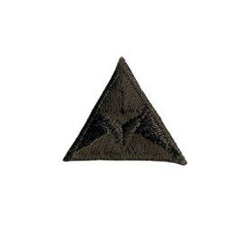 Ecusson thermocollant mouche triangle brodé marron 2x2cm