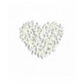 Lot de 3 écussons thermocollants cœur broderie ivoire 40mm x45mm