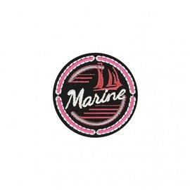 Ecusson thermocollant blason sport marine 5x5cm