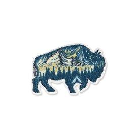 Ecusson thermocollant lurex taureau 4x8cm