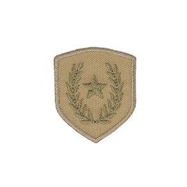 Ecusson thermocollant blason étoile sur laurier camel 4x3,5cm