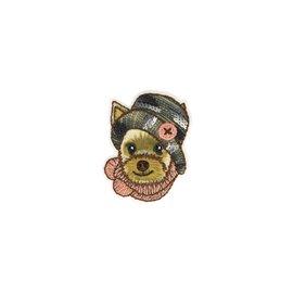 Ecusson thermocollant chien 3x4cm