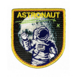 Lot de 3 écussons thermocollants astronaute 5 cm x 4,5 cm