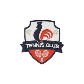 Ecusson thermocollant blason tennis club 5x6cm