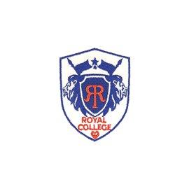 Ecusson thermocollant royal college bleu/blanc 4,6cm x 6cm