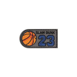 Ecusson thermocollant slam dunk 23 3x6cm