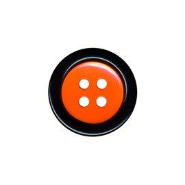 Bouton clown 2 éléments 4trous 48mm Noir/orange
