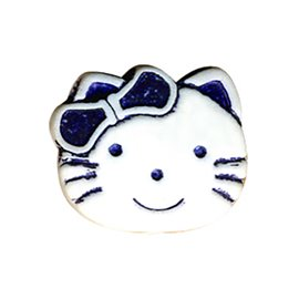 Bouton enfant kitty 19mm marine