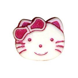 Bouton enfant kitty 19mm rose