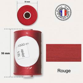 Bobine de fil rouge polyester 1000m