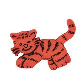 Lot de 6 boutons à queue chat tigre 23mm Orange