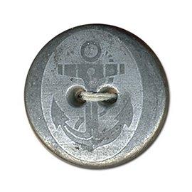 Lot de 6 boutons métal ancre 2trous 12mm Argent Vieilli