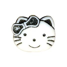 Lot de 6 boutons enfant kitty 19mm noir