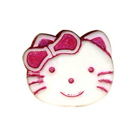 Lot de 6 boutons enfant kitty 19mm rose