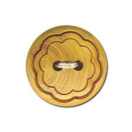 Lot de 6 boutons bois fleur bois