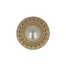 Lot de 6 boutons perles couleur vieil or
