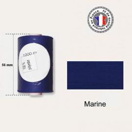 Bobine de fil bleu marine polyester 1000m