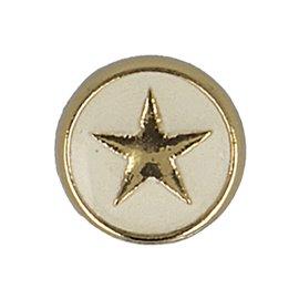 Lot de 6 boutons étoile 10mm