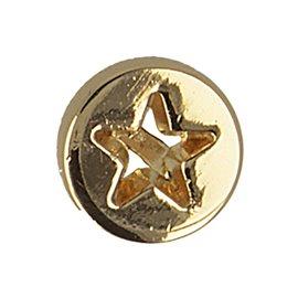 Lot de 6 boutons étoile gravee 10mm