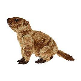 Lot de 3 écussons thermocollants marmotte profil gauche 3,5cm x 5,1cm