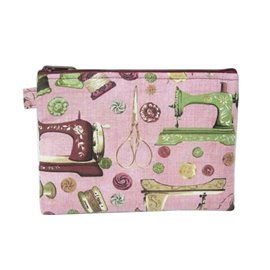 Pochette maquillage 16cmx21cm couture rose