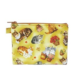 Pochette maquillage 16cmx21cm chats