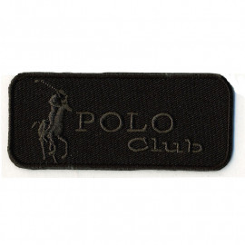 Ecusson Polo Club noir