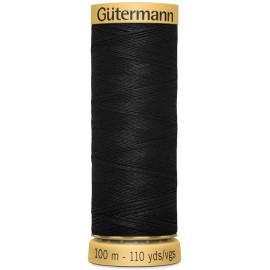 Fil à coudre 100% coton Gütermann 100m blanc