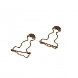 BOHIN Lot de 2 boucles de salopette 32mm bronze