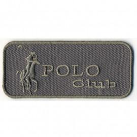 Ecusson Polo Club grise
